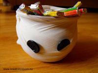 Halloween pályázat - Szellem kaspó - Töltve