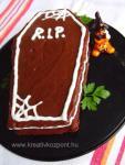 Halloween pályázat - Csokoládés koporsó - Kész