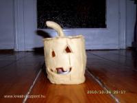 Halloween pályázat - Mécsestartó agyagból