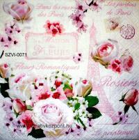 Szalvéta - Párizsi rózsák
