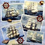 Szalvéta - Vitorláshajók
