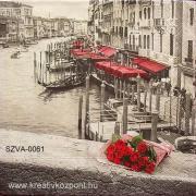 Szalvéta - Velencei rózsák