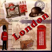 Szalvéta - London - Telefon fülke