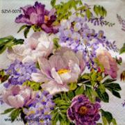 Szalvéta - Lila virágok