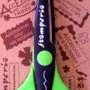 Olló cikk-cakk Stamperia - zöld