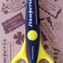 Olló cikk-cakk Stamperia - sárga