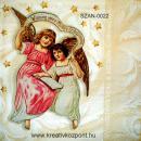 Szalvéta - Angyalka kislánnyal