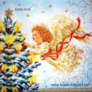 Szalvéta - Angyalka karácsonyfával
