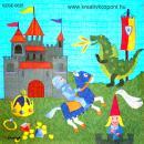 Szalvéta - Lovag és sárkány