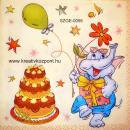 Szalvéta - Elefánt tortával