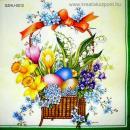 Szalvéta - Húsvéti ajándékkosár
