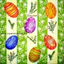 Szalvéta - Húsvéti festett tojások