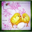 Szalvéta - Húsvéti kiscsibék