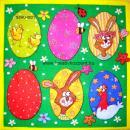 Szalvéta - Húsvéti vidám tojások
