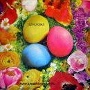 Szalvéta - Húsvéti tojások rózsákkal