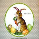 Szalvéta - Húsvéti nyuszi répával, tojással