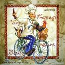 Szalvéta - Bicikliző szakács