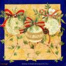 Szalvéta - Karácsonyi gömbök