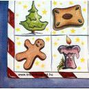 Szalvéta - Karácsonyi formák