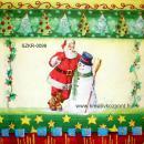 Szalvéta - Mikulás és hóember