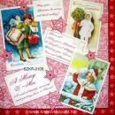 Szalvéta - Karácsonyi képeslapok