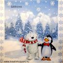 Szalvéta - Maci pingvinnel