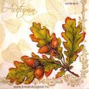 Szalvéta - Tölgyfa levél makkal