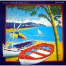 Szalvéta - Csónakok a parton