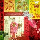 Szalvéta - Japán gésa