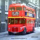 Szalvéta - Londoni emeletes busz