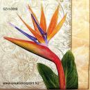 Szalvéta - Papagájvirág