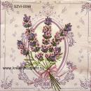 Szalvéta - Levendula csokor