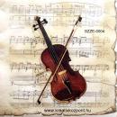 Szalvéta - Hegedű kottával