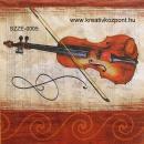 Szalvéta - Hegedű violinkulccsal