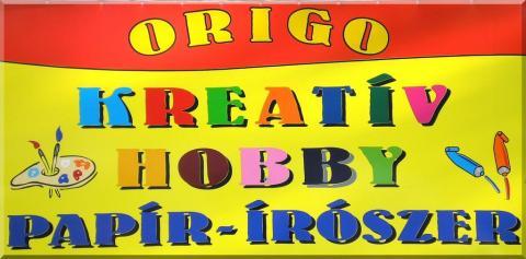 Origo Kreatív Hobby bolt tábla