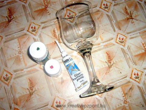 Pohárfestés üvegfestékkel - A hozzávalók
