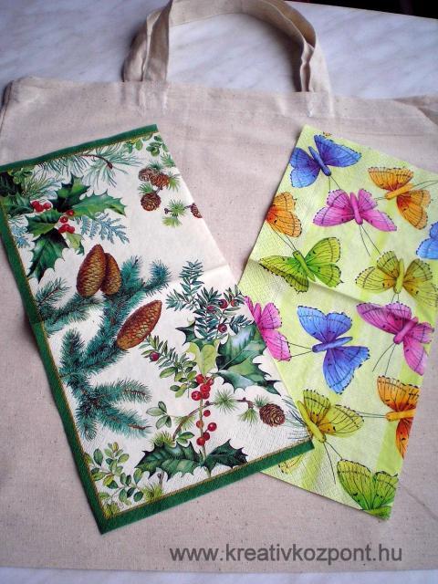 Textil decoupage - Hozzávalók