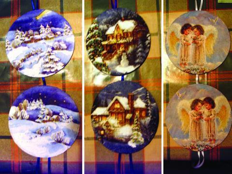 Karácsonyi díszek CD lemezből - Kész