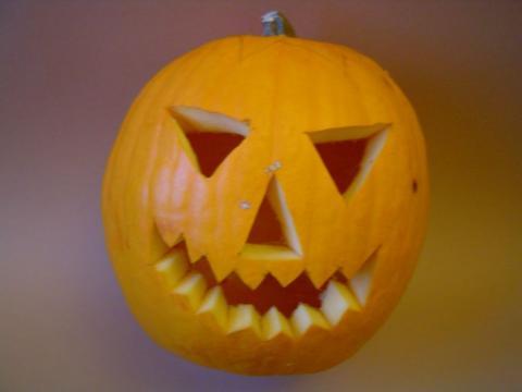 Halloween töklámpás - Arc kivágva