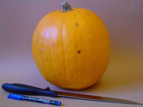 Halloween töklámpás - A hozzávalók