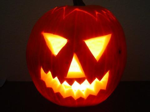 Halloween töklámpás - Kivilágítva