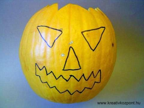 Halloween töklámpás - Arc megrajzolva