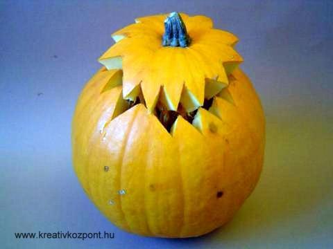 Halloween töklámpás - A teteje körbevágva